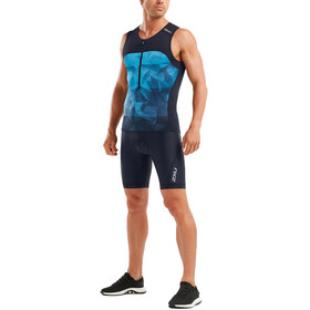 2XU Active Débardeur de triathlon Homme, midnight/blue terrain